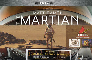 THE MARTIAN Indian Blu-Ray(3D&2D)/DVD Out Now from EXCEL