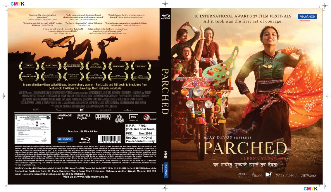 Parched (2016) DVD Released from Reliance Entertainment
