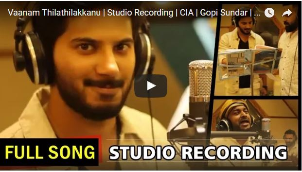Vaanam Thilathilakkanu Full Song | Studio Recording | CIA |Dulquer Salmaan