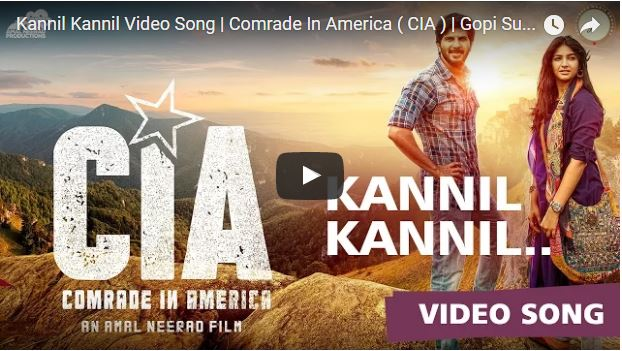 Kannil Kannil Video Song | Comrade In America ( CIA ) | Dulquer Salmaan